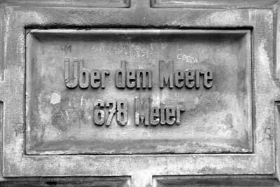 Hinweistafel an der Donauquelle im Schlosspark