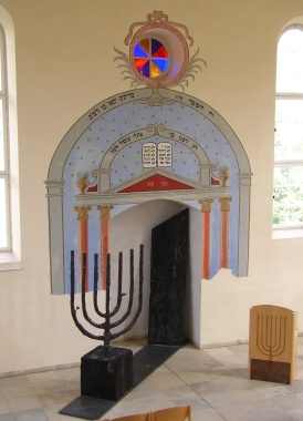 Ehemalige Thoranische im Museum zur Geschichte der Juden im Ostalbkreis