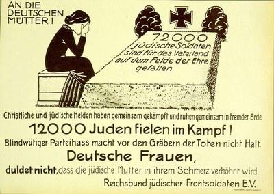 Handzettel des Reichsbundes jüdischer Frontsoldaten 1920