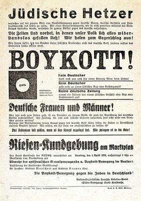 Boykottaufruf der NSDAP, Kreis Karlsruhe