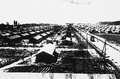 Blick auf das Lager Gurs, um 1940.