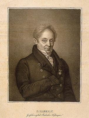 Porträt des badischen Hofagenten und Hofbankiers Salomon v. Haber