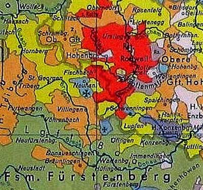 Die territorialen Verhältnisse zwischen Schwarzwald und Alb