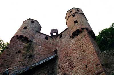 Schildmauer von Burg Schadeck/Neckarsteinach