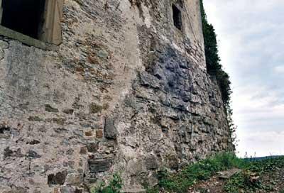 Obere Burg Hornberg: Schildmauer