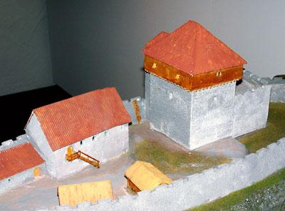 Rekonstruktions-Modell der Burg Lauffen (Burgmuseum Lauffen)