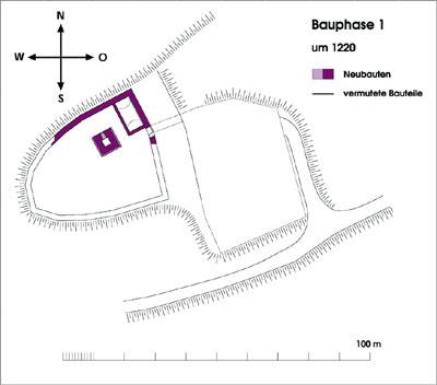 Ravensburg: rekonstruierter mittelalterlicher Grundriss