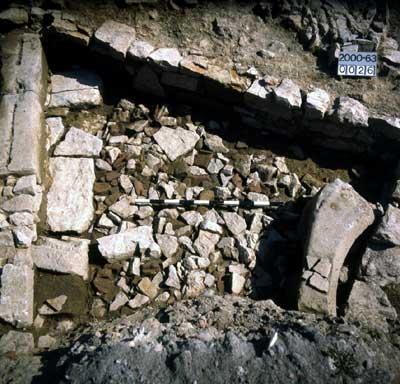 Sinsheim: Bogenstein des Wohnturmeingangs