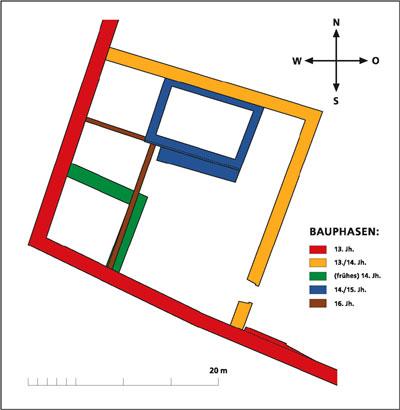 Grundriss der Burg Sinsheim