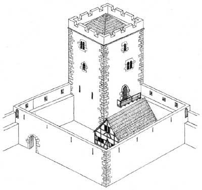 Sinsheim: Rekonstruktionsversuch der Burg Sinsheim