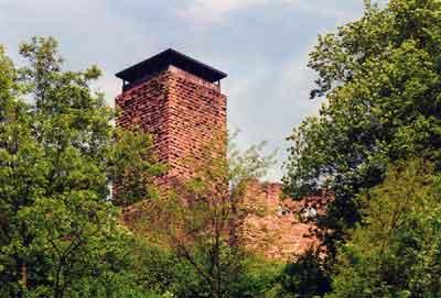Die Kernburg der Hinterburg Neckarsteinach