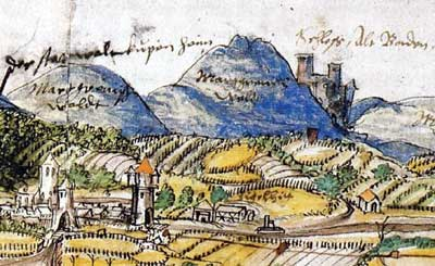 Burg Hohenbaden im Jahr 1559