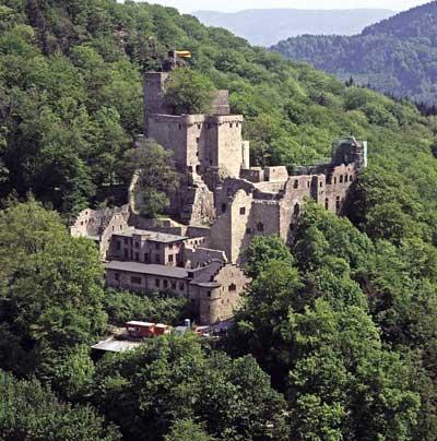 Burg Hohenbaden von Südwesten