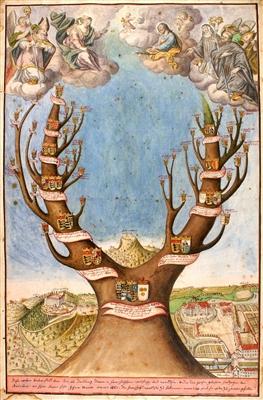 Wappenbaum der gräflichen Linien Waldburg-Wolfegg-Wolfegg und Waldburg-Wolfegg-Waldsee