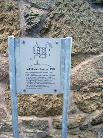 Informationstafeln auf der Burg