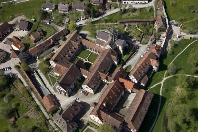 Luftbild des Klosters Bebenhausen