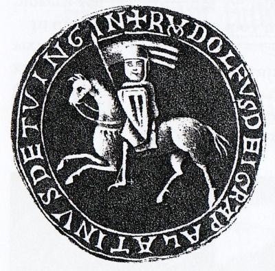 Siegel des Stifters von Bebenhausen, Pfalzgraf Rudolf I. von Tübingen