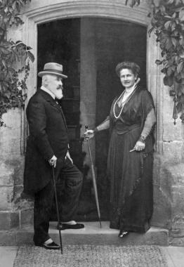 König Wilhelm II. von Württemberg und seine Frau Königin Charlotte