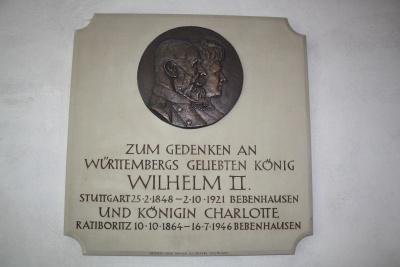 Gedenktafel zu Ehren des Königspaares