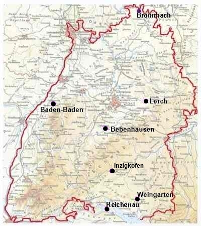 Themenkarte Klöster im Mittelalter