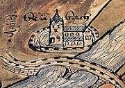 Zisterzienserabtei Bronnbach Augenscheinkarte von 1518 - älteste bekannte Darstellung