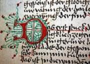 Initiale aus der ehemaligen Klosterbibliothek