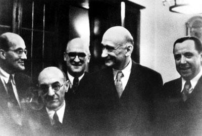 Konferenz des französischen Außenministers Robert Schuman