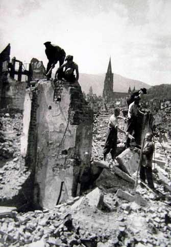 Trümmerräumung in Freiburg
