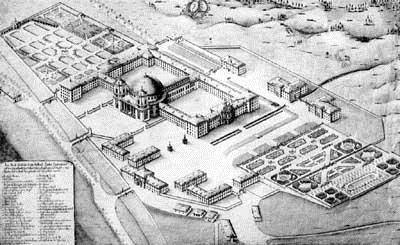 Fürstabtei St. Blasien - Gesamtprospekt von Salzmann 1772