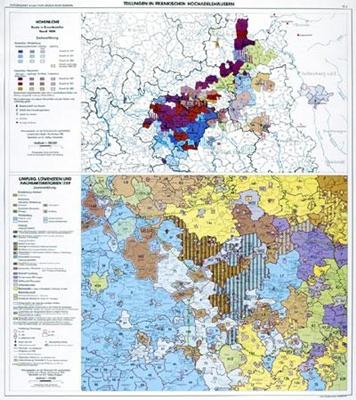 Teilungen in fränkischen Hochadelshäusern: