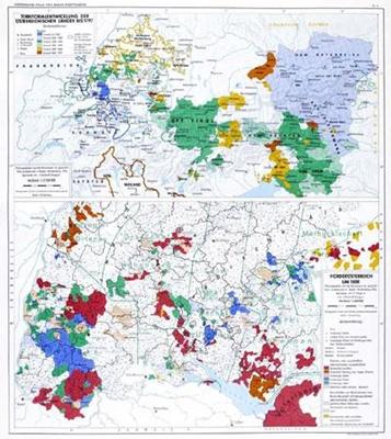 Territorialentwicklung der österreichischen Länder bis 1800