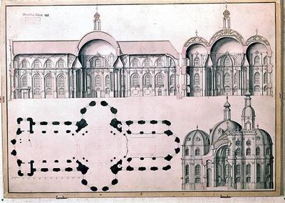 Vorentwurf der Klosterkirche 1747