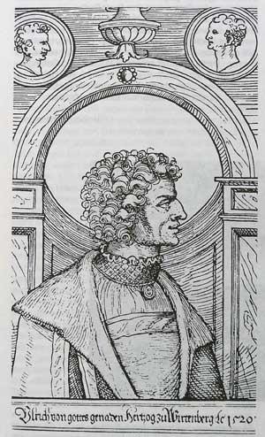 Herzog Ulrich von Württemberg - Holzschnitt eines unbekannten Meisters, 1520