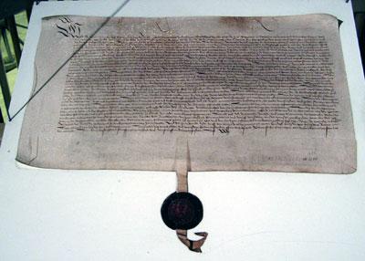 Der Hilzinger Vertrag - Ausfertigung für die Gemeinde Reichenau (Schlossparkmuseum Hilzingen)