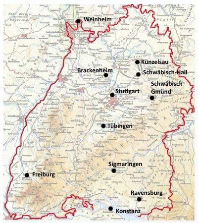 Themenkarte Bauernkrieg in BW