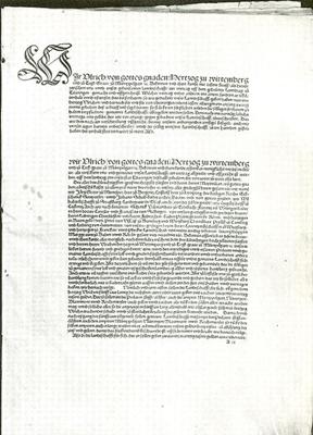 Der Vertrag zu Tübingen, das erste württembergische Staatsgrundgesetz