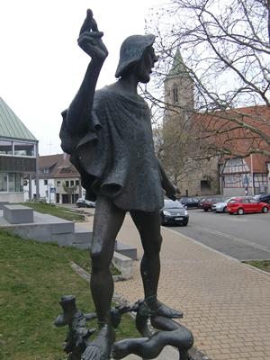 Peter-Gais-Denkmal von Fritz Nuss in Beutelsbach
