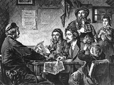 Der Agitator, Holzstich aus dem Jahre 1877