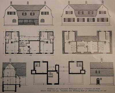Grundrisse für Wohnhaus (Haustyp 6)