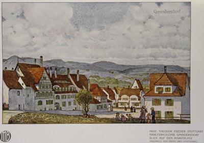 Marktplatz, vom Gelände des späteren Kinderhorts aus gesehen