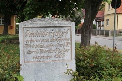 Gedenktafel am Eingang zum Gmindersdorf, Reutlingen