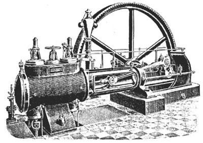 Einzylinder-Dampfmaschine, Fa. Wehrle/Emmendingen