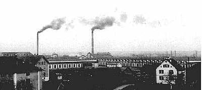 Ramiefabrik Emmendingen, 1913, von Norden aus gesehen