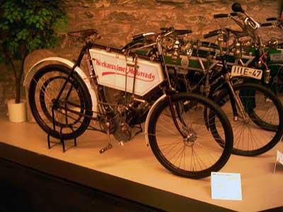 1901 wurden in Neckarsulm die ersten Motorräder gebaut.