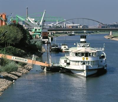 Das Museumsschiff Mannheim