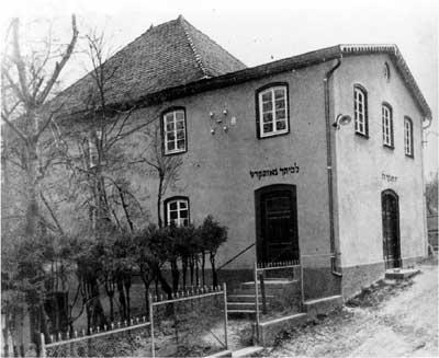 Synagoge -Außenansicht 1935
