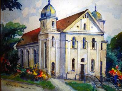 Synagoge in Laupheim (Aquarell Stumpp)