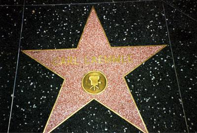 Laemmles Stern auf dem Walk of Fame, Hollywood Bvd, Los Angeles