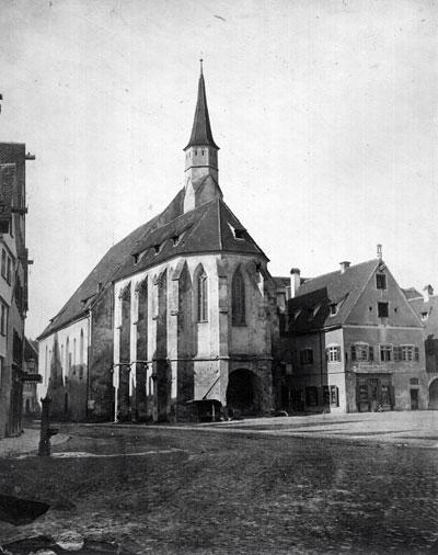 Barfüßerkirche auf dem Münsterplatz