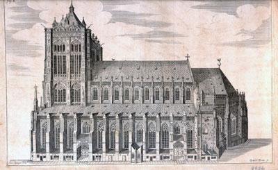 Ulmer Münster von Süden - Bauzustand im 16. Jh.
